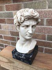 Vintage Statue Art Sculpture Michelangelo's David Bust G. Carusi