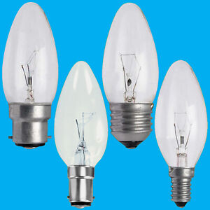 4x Clear Candle Dimmable Standard Light Bulbs 25W 40W 60W BC ES SBC SES Lamps