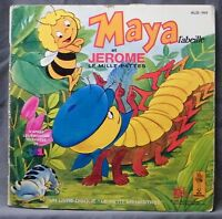 ♪♪ 45 T VINYL - MAYA THE BEE AND JEROME THE CENTIPEDE - BOOK DISK ♪♪