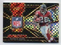 2018 Panini Select WARRICK DUNN Rare Jersey NFL LOGO PATCH #1/1 BLACK PRIZM #2