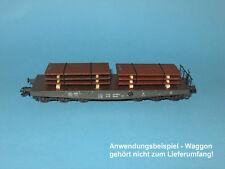 Ladegut H0 – 2 Stahlplatten-Stapel rostig (L= 2x55 mm) für Schwerlastwagen