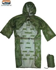 LIGHTWEIGHT MESH CONCEALMENT VEST GHILLIE SUIT SNIPER CAMOUFLAGE HUNTING ARMY
