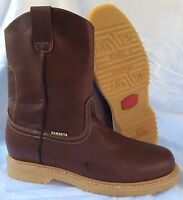 Men's Construction Work Boots Pull On Leather Brown oil slip resistant Trabajo