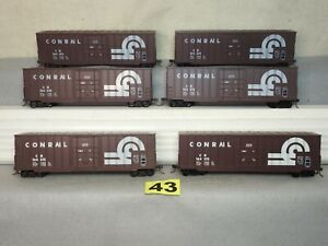 SET OF SIX HO SCALE ATHEARN CONRAIL HI-CUBE BOXCARS EXCELLENT READY TO RUN
