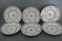 Set of 6 Royal Crown Derby Roses A8278 Soup Bowls 1908