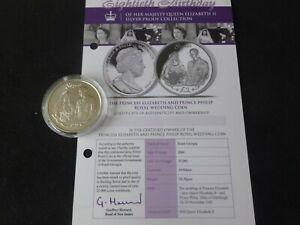2006 SILVER PROOF SOUTH GEORGIA £2 COIN + COA QUEEN 80th BIRTHDAY WEDDING DAY