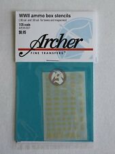 Archer 1/35 .30 Cal and .50 Cal Ammo Crate and Magazine Stencils WWII AR35307