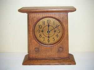 Stickley Mantle Clock Handcrafted in Manlius, NY