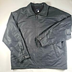 GAP Men's Jacket Insulated Black Coat Fleece Lined Size XXL