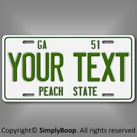 Vintage Retro 1951 Georgia Personalized Your Text Aluminum License Plate Tag New