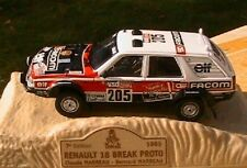 RENAULT 18 BREAK TURBO #205 PROTO RALLYE PARIS DAKAR 1985 NOREV 1/43 MARREAU