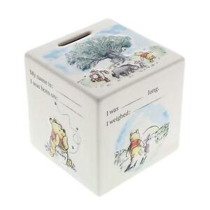Disney Winnie The Pooh Money Box Ceramic Piggy Bank New Baby Birth Shower Gift