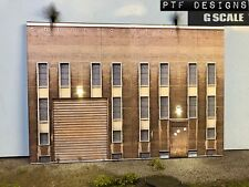 "G Scale Scratch Built "" INDUSTRIAL #4 "" Factory Building Flat LED 1/24 1/32"