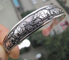 Wholesale New style Tibetan Tibet Silver Totem Bangle Cuff Bracelet