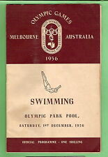 #D110.  1956 MELBOURNE OLYMPIC SWIMMING PROGRAM