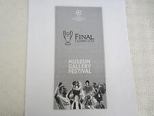 2014 Finale Ligue des Champions musée galerie Festival livret