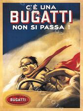 Bugatti Metal Sign, Vintage Italian Race Car, Retro Decor, Garage, Gameroom, Bar