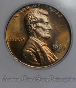1c One Cent Penny 1969 S MS67 RD ICG Lincoln Memorial High Grade Rarity