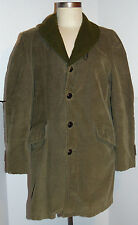 Vintage Men'S 1950s-60s Paul Bunyan Rockabilly Corduroy Car Coat! Pile Lining M