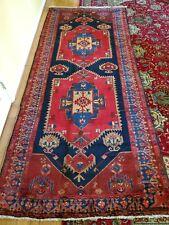 New listing 4.6 x 10.6 Vintage Fine Serapi Antique Kazak Heriz Caucasian Oushak Shirv