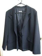TARGET   size  18    Black Polyester Slinky  1 Buttoned JACKET -  As new *
