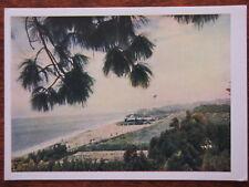 1954 Caucasus, Georgia, Batumi Sea Green Cape, PRAVDA Stalin Print Shop Postcard