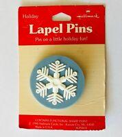 Hallmark Snowflake Lapel Winter Brooch Pin Badge Rare Vintage (A6)