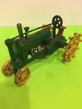 Vintage Cast Iron Tractor 8'' long