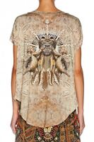 new CAMILLA FRANKS SWAROVSKI CEREMONY OF TRUTH ROUND NECK TEE TOP KAFTAN layby