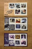 2014 2015 2016 Haunted Canada 1,2,3 New Ghosts Horror Souvenir Sheets Halloween