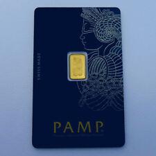 999 Gold Goldbarren Fortuna Pamp Suisse 1 Gramm im Blister mit Zertifikat