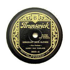 "SANDY MAC FARLANE ""Sergeant Jock McPhee "" BRUNSWICK 3835 [78 RPM]"