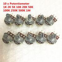 10 PCS WH148 B10K Linear Potentiometer Pot 1K 2K 5K 10K 100K 500K 1M for Arduino
