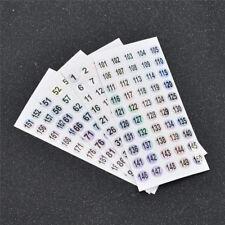 Laser Etiketten Sticker Zahlen 1-200 Wasserdicht Holographisch Zahl Aufkleber