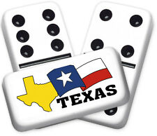 Texana Series Texas State Design Double six Professional size Dominoes