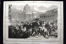Corsa dei cavalli berberi a Roma negli ultimi giorni del Carnevale del 1868