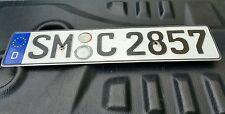 Vintage Germany License Plates EU European Foreign Old Cars Number SM-C-2857