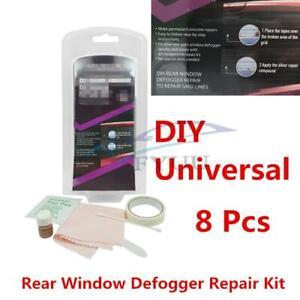 Silver Rear Window Defogger Repair Kits For Car Window Cleaning Invisible Repair