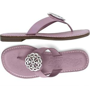 Brighton Ferrara Collection Alice Lavendar Wisteria thong sandals size 7M - NIB