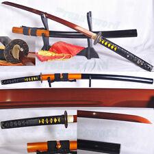 "41""JAPANESE SAMURAI SWORD KATANA red 1095 HIGH CARBON STEEL UNOKUBI-ZUKURI STYLE"