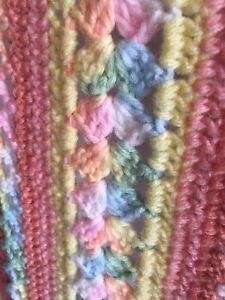 Multicolored Crochet Afghan Lap Blanket 70x42 Handmade Unused