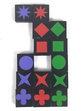QWIRKLE Lot of 14 ASSORTED TILES  Game Pieces Replacement Parts 2010 MindWare