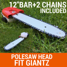 "Chainsaw Attachment W/12"" Bar+2chain For Pole Chain Saw Pruner Fit Giantz"