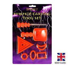 9Pcs Halloween PUMPKIN CARVING TOOL SET Designs Craft Tools Kit Party Decor UK
