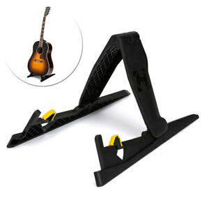 Hercules EZ Foldable Acoustic/Electric Guitar Stand/Storage Rack/Holder Black