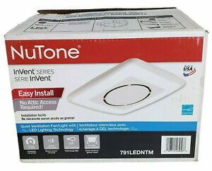 NuTone 791LEDNTM InVent Series 110 CFM Ceiling Mounted Ventilation Fan with LED