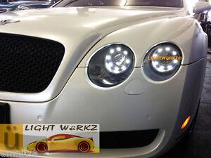 Bentley Continental GT GTC Orion V2 LED Angel Demon Eyes DRL Kit REMOTE HARNESS