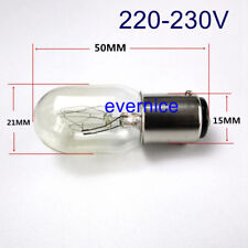 2 PCS BULB 15W 220V DOUBLE CONTACT CLEAR #649 for BABYLOCK BL1000, BL1050