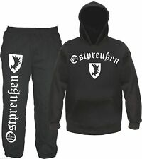 Ostpreußen Jogging Suit - Hoodie and Joggers - Black - East Prussia Emblem