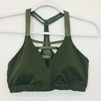 Victoria Secret Women's  Racerback Sports Bra Size M Olive Green